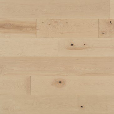 Natural Maple Hardwood flooring / White Mist Mirage Herringbone