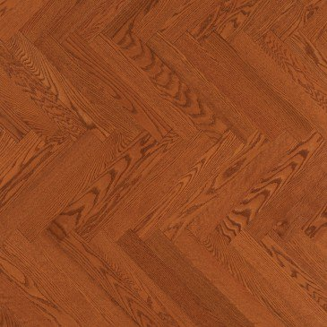 Orange Red Oak Hardwood flooring / Auburn Mirage Herringbone