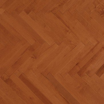 Orange Maple Hardwood flooring / Auburn Mirage Herringbone