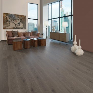 Grey White Oak Hardwood flooring / Roller Coaster Mirage Herringbone / Inspiration