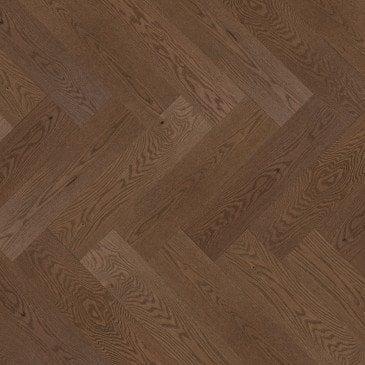 Brown Red Oak Hardwood flooring / Savanna Mirage Herringbone