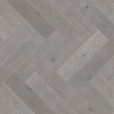 Grey Red Oak Hardwood flooring / Hopscotch Mirage Herringbone