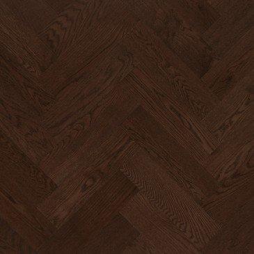 Brown Red Oak Hardwood flooring / Coffee Mirage Herringbone