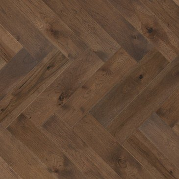 Brown Hickory Hardwood flooring / Umbria Mirage Herringbone
