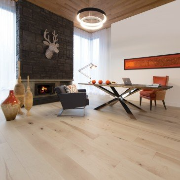 Natural Maple Hardwood flooring / White Mist Mirage Herringbone / Inspiration