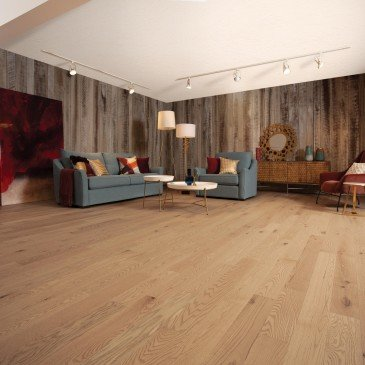 Beige Red Oak Hardwood flooring / Paddle ball Mirage Herringbone / Inspiration