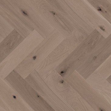 Brown White Oak Hardwood flooring / Sand Dune Mirage Herringbone