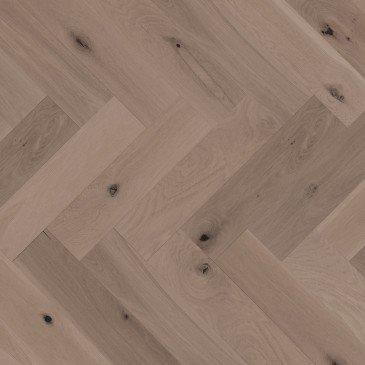 Planchers de bois franc Chêne Blanc Brun / Mirage Herringbone Sand Dune