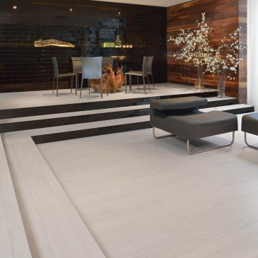 White Red Oak Hardwood flooring / Nordic Mirage Herringbone / Inspiration