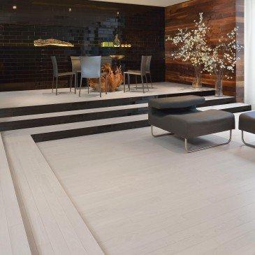 White Red Oak Hardwood flooring / Nordic Mirage Herringbone / Inspiration