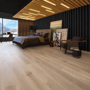 Beige White Oak Hardwood flooring / Hula Hoop Mirage Sweet Memories / Inspiration