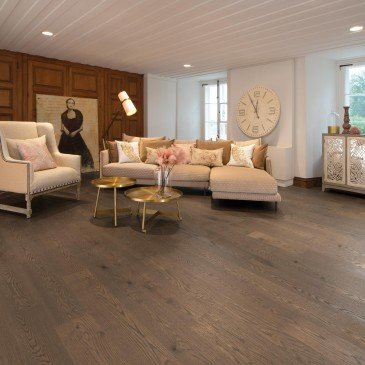 Brown White Oak Hardwood flooring / Sailing stone Mirage Herringbone / Inspiration