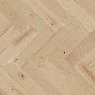 White Maple Hardwood flooring / White Mist Mirage Herringbone
