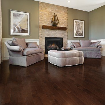 Brown Maple Hardwood flooring / Vienna Mirage Herringbone / Inspiration