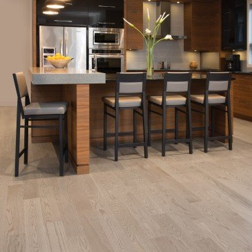 Beige Red Oak Hardwood flooring / Rio Mirage Herringbone / Inspiration