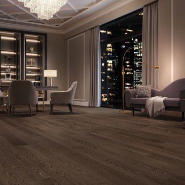 Brown Red Oak Hardwood flooring / Charcoal Mirage Herringbone / Inspiration
