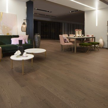 Brown Red Oak Hardwood flooring / Savanna Mirage Herringbone / Inspiration