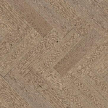 Beige Red Oak Hardwood flooring / Rio Mirage Herringbone