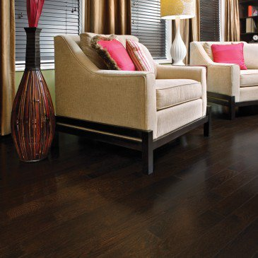 Brown Red Oak Hardwood flooring / Java Mirage Herringbone / Inspiration
