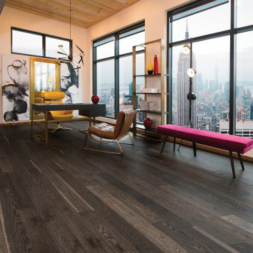Brown White Oak Hardwood flooring / Lunar Eclipse Mirage Herringbone / Inspiration