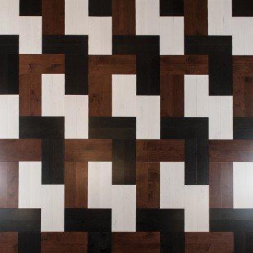 Reddish-brown Maple Hardwood flooring / Canyon Mirage Herringbone