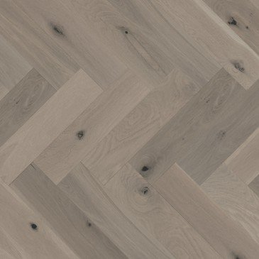 Brown White Oak Hardwood flooring / Grey Drizzle Mirage Herringbone