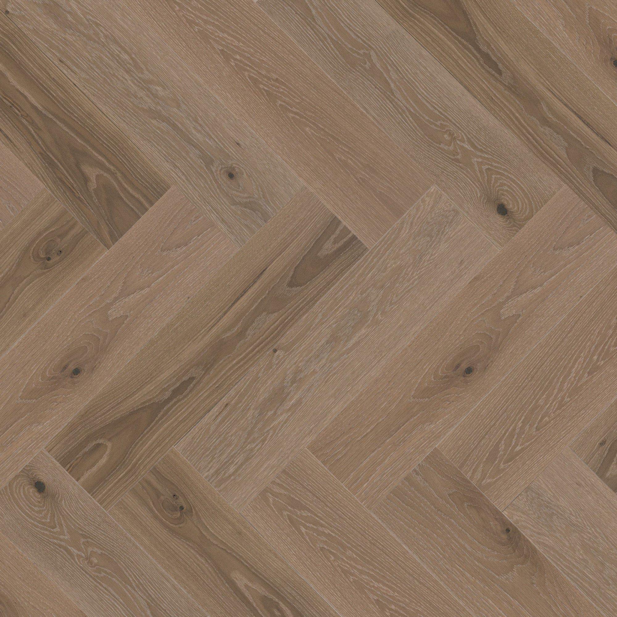 Chêne blanc Sand Castle Caractère Brossé - Image plancher