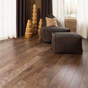 Brown Yellow Birch Hardwood flooring / Nougat Mirage Sweet Memories / Inspiration