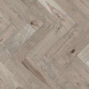 Beige Maple Hardwood flooring / Gelato Mirage Herringbone