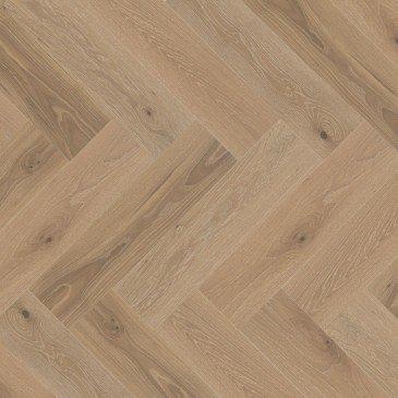 Beige White Oak Hardwood flooring / Hula Hoop Mirage Herringbone