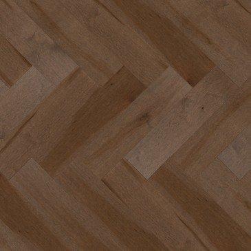 Brown Maple Hardwood flooring / Savanna Mirage Herringbone