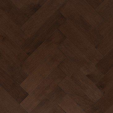 Brown Maple Hardwood flooring / Coffee Mirage Herringbone