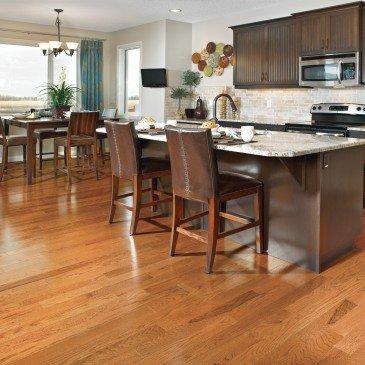 Orange Red Oak Hardwood flooring / Nevada Mirage Herringbone / Inspiration