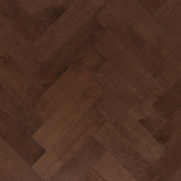 Brown Maple Hardwood flooring / Umbria Mirage Herringbone