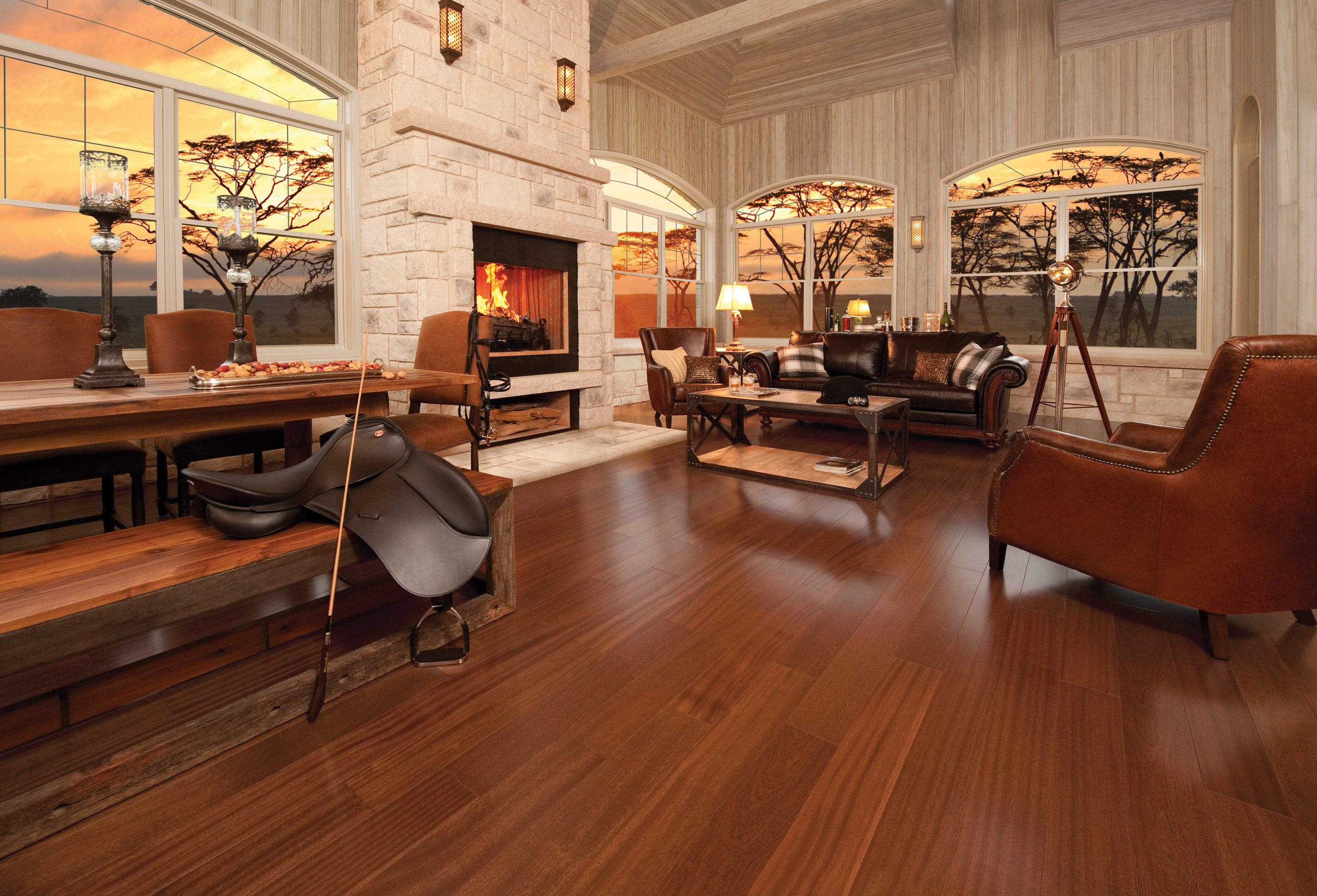 African Mahogany Brass Exclusive Smooth - Ambience image
