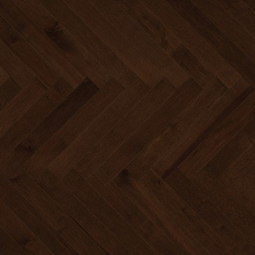 Brown Maple Hardwood flooring / Java Mirage Herringbone