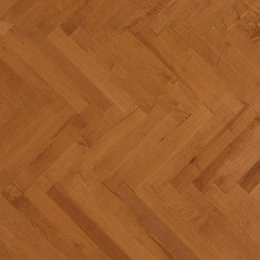 Orange Maple Hardwood flooring / Nevada Mirage Herringbone
