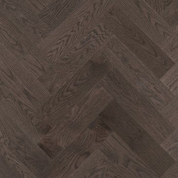 Grey Red Oak Hardwood flooring / Charcoal Mirage Herringbone