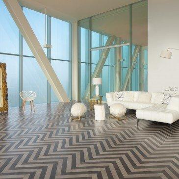 Beige Maple Hardwood flooring / Rio Mirage Herringbone / Inspiration