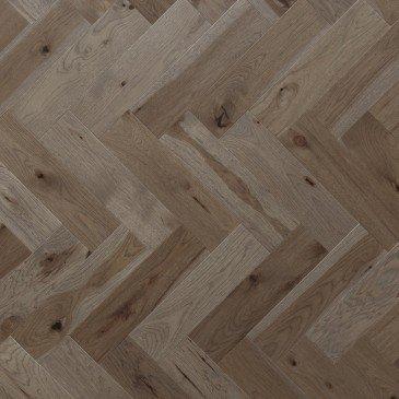 Planchers de bois franc Hickory Brun / Mirage Herringbone Greystone
