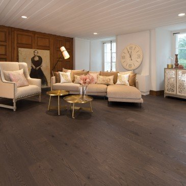 Brown Red Oak Hardwood flooring / Nightfall Mirage Herringbone / Inspiration