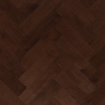 Brown Maple Hardwood flooring / Vienna Mirage Herringbone