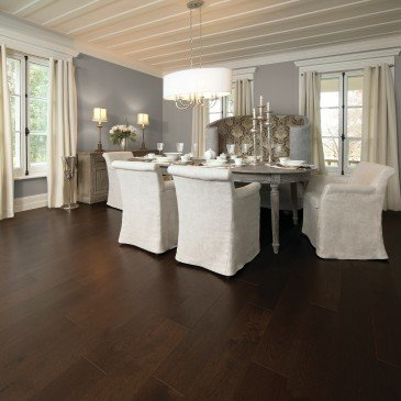 Brown Red Oak Hardwood flooring / Coffee Mirage Herringbone / Inspiration