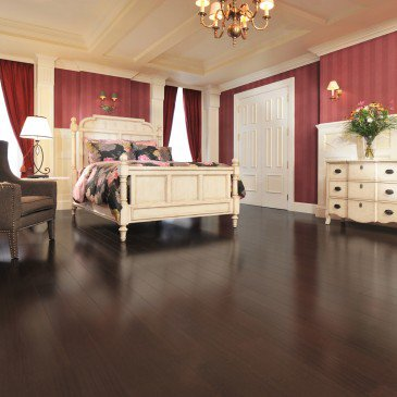 Brown African Mahogany Hardwood flooring / Onyx Mirage Exotic / Inspiration