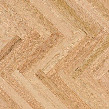 Natural Red Oak Hardwood flooring / Natural Mirage Herringbone