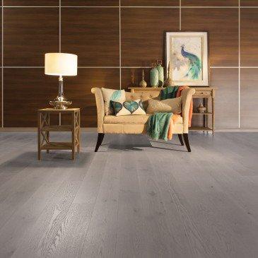 White Oak Hardwood flooring / Grey Drizzle Mirage Flair / Inspiration