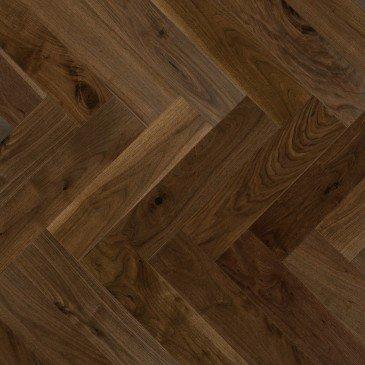 Brown Walnut Hardwood flooring / Savanna Mirage Herringbone