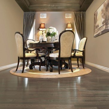 Grey Red Oak Hardwood flooring / Platinum Mirage Herringbone / Inspiration