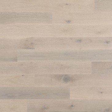 Natural White Oak Hardwood flooring / Bubble Bath Mirage Herringbone