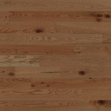 Chêne rouge Carmel Caractère Brossé - Image plancher